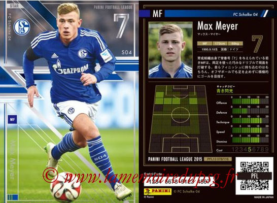 Panini Football League 2015 - PFL13 - N° 078 - Max MEYER (FC Schalke 04) (Star)