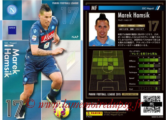 Panini Football League 2015 - PFL14 - N° 106 - Marek HAMSIK (SSC Napoli) (Super MF)