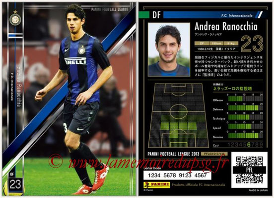 Panini Football League 2013 - PFL03 - N° 017 - Andrea Ranocchia (Inter Milan)