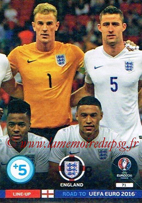 Panini Road to Euro 2016 Cards - N° 071 - Equipe Angleterre 2