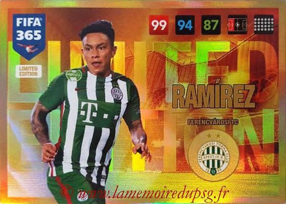 2016-17 - Panini Adrenalyn XL FIFA 365 - N° LE35 - Cristian RAMIREZ (Ferencvarosi TC) (Limited Edition)