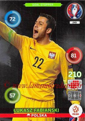 Panini Euro 2016 Cards - N° 245 - Lukasz FABIANSKI (Pologne) (Goal Stopper)
