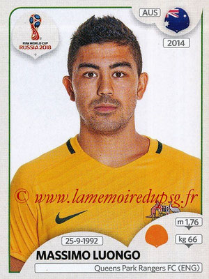 2018 - Panini FIFA World Cup Russia Stickers - N° 225 - Massimo LUONGO (Australie)