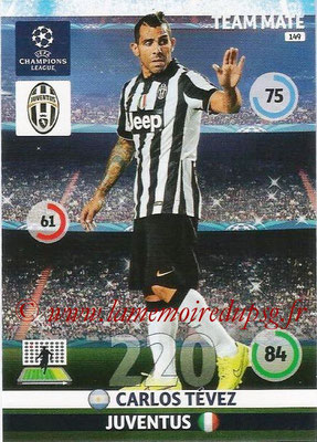 2014-15 - Adrenalyn XL champions League N° 149 - Carlos TEVEZ (Juventus FC)