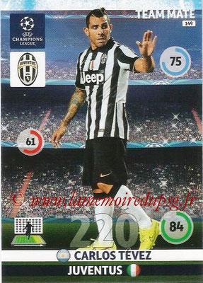 2014-15 - Adrenalyn XL champions League N° 149 - Carlos TEVEZ (Juventus FC)