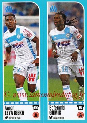 2016-17 - Panini Ligue 1 Stickers - N° 396 + 397 - Aaron LEYA ISEKA + Bafétimbi GOMIS (Marseille)