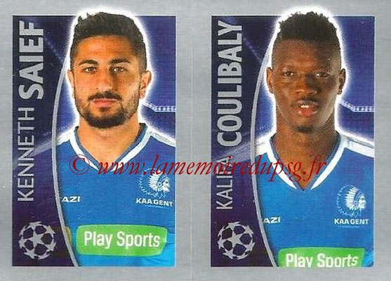 2015-16 - Topps UEFA Champions League Stickers - N° 550 - Kenneth SAIEF + Kalifa COULIBALY (KAA Gent)