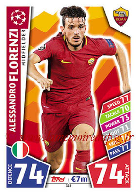 2017-18 - Topps UEFA Champions League Match Attax - N° 392 - Alessandro FLORENZI (AS Roma)