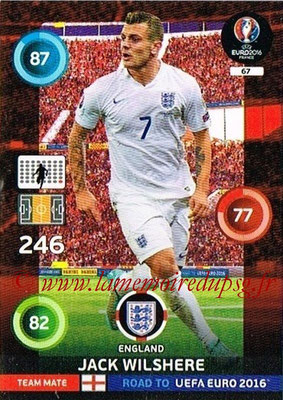 Panini Road to Euro 2016 Cards - N° 067 - Jack WILSHERE (Angleterre)