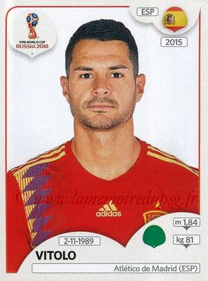 2018 - Panini FIFA World Cup Russia Stickers - N° 150 - VITOLO (Espagne)