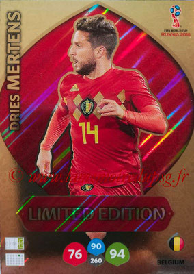 2018 - Panini FIFA World Cup Russia Adrenalyn XL - N° LE-DM - Dries MERTENS (Belgique) (Limited Edition)