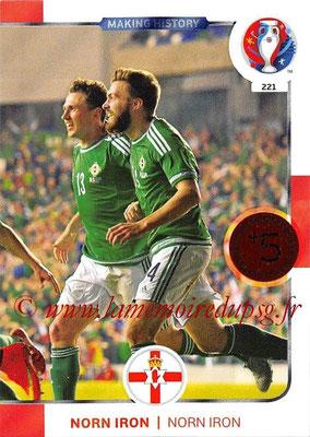 Panini Euro 2016 Cards - N° 221 - Making History de Irlande du Nord