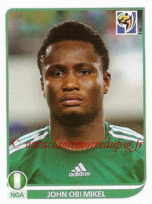 2010 - Panini FIFA World Cup South Africa Stickers - N° 135 - John OBI MIKEL (Nigeria)