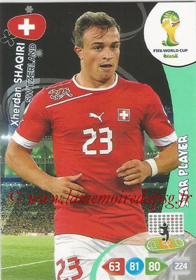 2014 - Panini FIFA World Cup Brazil Adrenalyn XL - N° 300 - Xherdan SHAQIRI (Suisse) (Star Player)