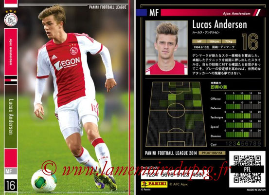 Panini Football League 2014 - PFL07 - N° 103 - Lucas ANDERSEN (Ajax Amsterdam)