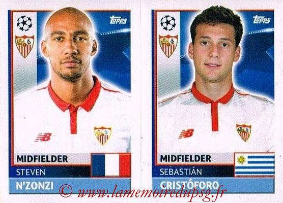 2016-17 - Topps UEFA Champions League Stickers - N° SEV 10-11 - Sebastian CRISTOFORO + Steven N'ZONZI (FC Seville)