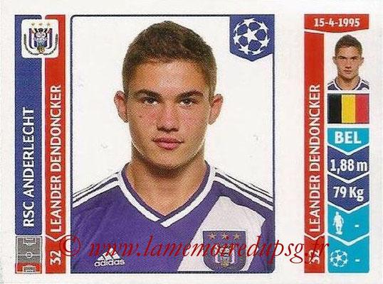 2014-15 - Panini Champions League N° 320 - Leander DENDONCKER (RSC Anderlecht)