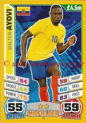 Topps Match Attax England 2014 - N° 073 - Walter AYOVI (Equateur)