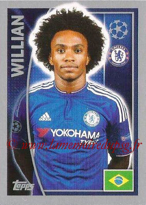 2015-16 - Topps UEFA Champions League Stickers - N° 457 - WILLIAN (Chelsea FC)