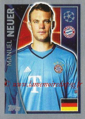 2015-16 - Topps UEFA Champions League Stickers - N° 378 - Manuel NEUER (FC Bayern Munich)