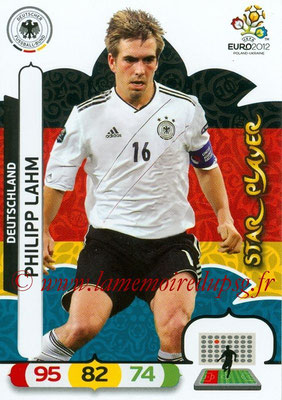 Panini Euro 2012 Cards Adrenalyn XL - N° 028 - Philipp LAHM (Allemagne) (Star Player)