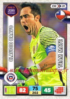 2018 - Panini Road to FIFA World Cup Russia Adrenalyn XL - N° CHI01 - Claudio BRAVO (Chili)