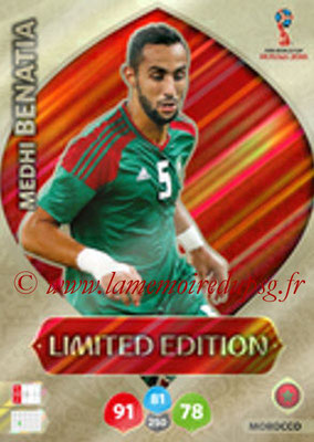 2018 - Panini FIFA World Cup Russia Adrenalyn XL - N° LE-MB - Medhi BENATIA (Maroc) (Limited Edition)