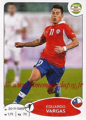 2014 - Panini Road to FIFA World Cup Brazil Stickers - N° 172 - Eduardo VARGAS (Chili)