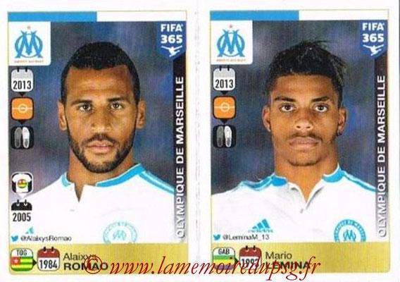 2015-16 - Panini FIFA 365 Stickers - N° 423-424 - Alaixys ROMAO + Mario LEMINA (Olympique de Marseille)