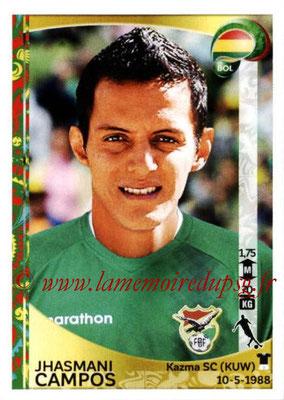 Panini Copa America Centenario USA 2016 Stickers - N° 390 - Jhasmani CAMPOS (Bolivie)