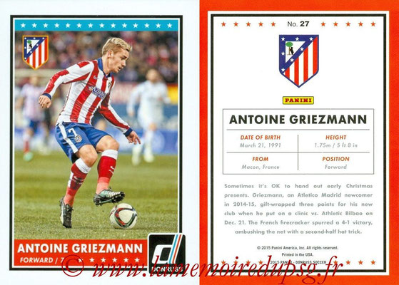 2015 - Panini Donruss Soccer - N° 027 - Antoine GRIEZMANN (Atletico Madrid)