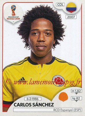 2018 - Panini FIFA World Cup Russia Stickers - N° 640 - Carlos SANCHEZ (Colombie)