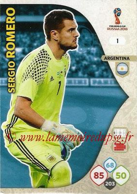 2018 - Panini FIFA World Cup Russia Adrenalyn XL - N° 001 - Sergio ROMERO (Argentine)