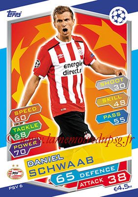 2016-17 - Topps UEFA Champions League Match Attax - N° PSV6 - Daniel SCHWAAB (PSV Eindhoven)