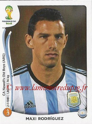 2014 - Panini FIFA World Cup Brazil Stickers - N° 424 - Maxi RODRIGUEZ (Argentine)