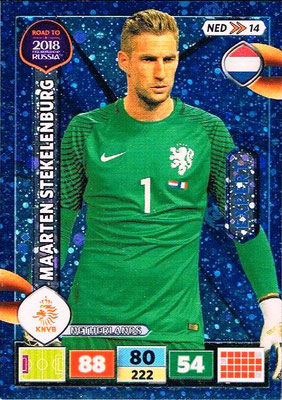 2018 - Panini Road to FIFA World Cup Russia Adrenalyn XL - N° NED14 - Maarten STEKELENBURG (Pays-Bas) (Expert)