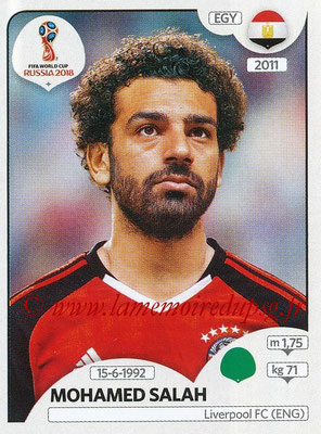 2018 - Panini FIFA World Cup Russia Stickers - N° 090 - Mohamed SALAH (Egypte)