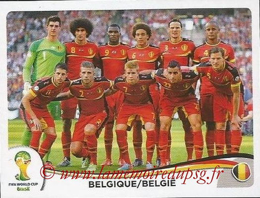 2014 - Panini FIFA World Cup Brazil Stickers - N° 565 - Equipe Belgique