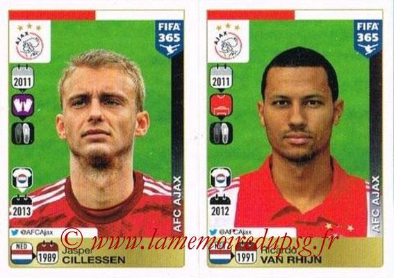 2015-16 - Panini FIFA 365 Stickers - N° 642-643 - Jasper CILLESSEN + Ricardo van RHIJIN (AFC Ajax)