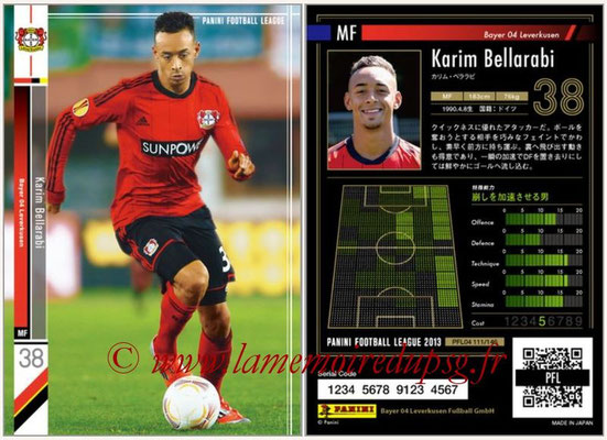 Panini Football League 2013 - PFL04 - N° 111 - Karim BELLARABI (Bayer Leverkusen)
