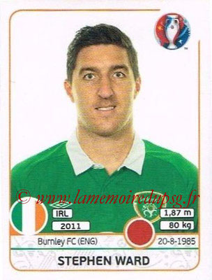 Panini Euro 2016 Stickers - N° 523 - Stephen WARD (République d'Irlande)