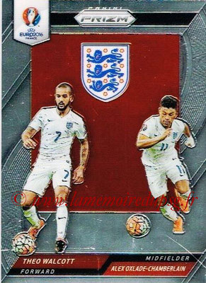 Euro 2016 Panini Prizm - N° CCD-17 - Theo WALCOTT + Alex OXLADE-CHAMBERLAIN (Angleterre) (Country Combinaions Duals)