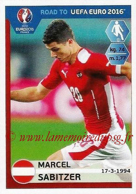 Panini Road to Euro 2016 Stickers - N° 204 - Marcel SABITZER (Autriche)