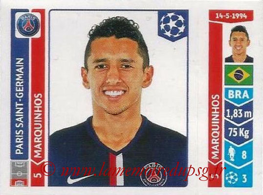 2014-15 - Panini Champions League N° 449 - MARQUINHOS (Paris Saint-Germain)