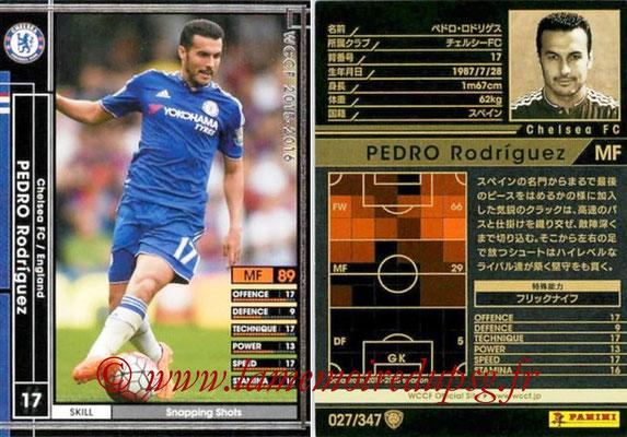 2015-16 - Panini WCCF - N° 027 - Pedro  RODRIGUEZ (Chelsea FC)