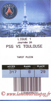 Tickets PSG-Toulouse  2014-15