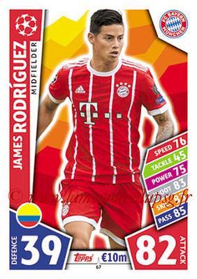 2017-18 - Topps UEFA Champions League Match Attax - N° 067 - James RODRIGUEZ (FC Bayern Munich)