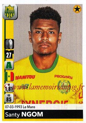 2018-19 - Panini Ligue 1 Stickers - N° 294 - Santy NGOM (Nantes)