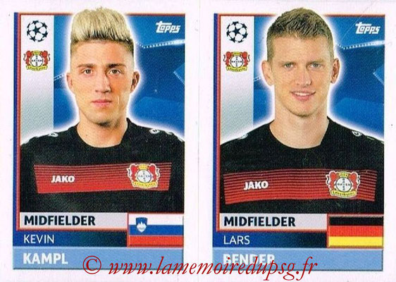 2016-17 - Topps UEFA Champions League Stickers - N° LEV 12-13 - Lars BENDER + Kevin KAMPL (Bayer 04 Leverkusen)
