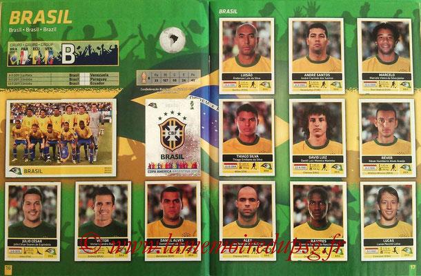 Panini Copa América Argentina 2011 - Pages 16 et 17 - Brésil